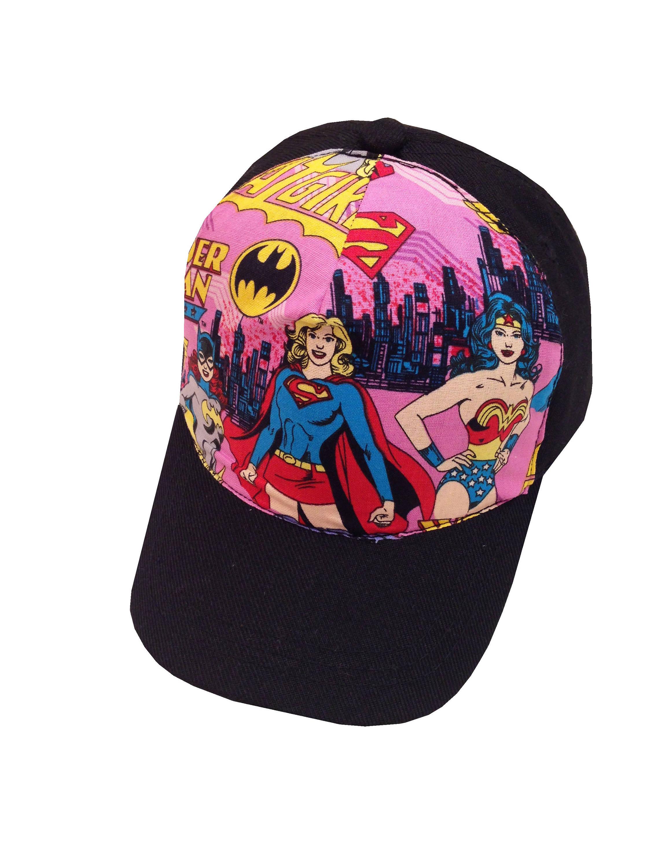 8ddfe7e90f313 Girls Super Hero Ball Cap Toddler Size