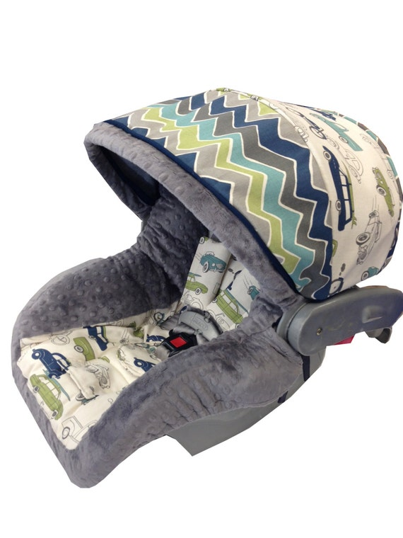 Vintage Cars Infant Car Seat Cover Green Navy Etsy
