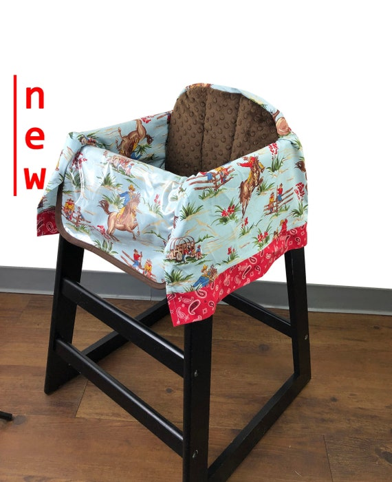 Vintage Western High Chair Cover