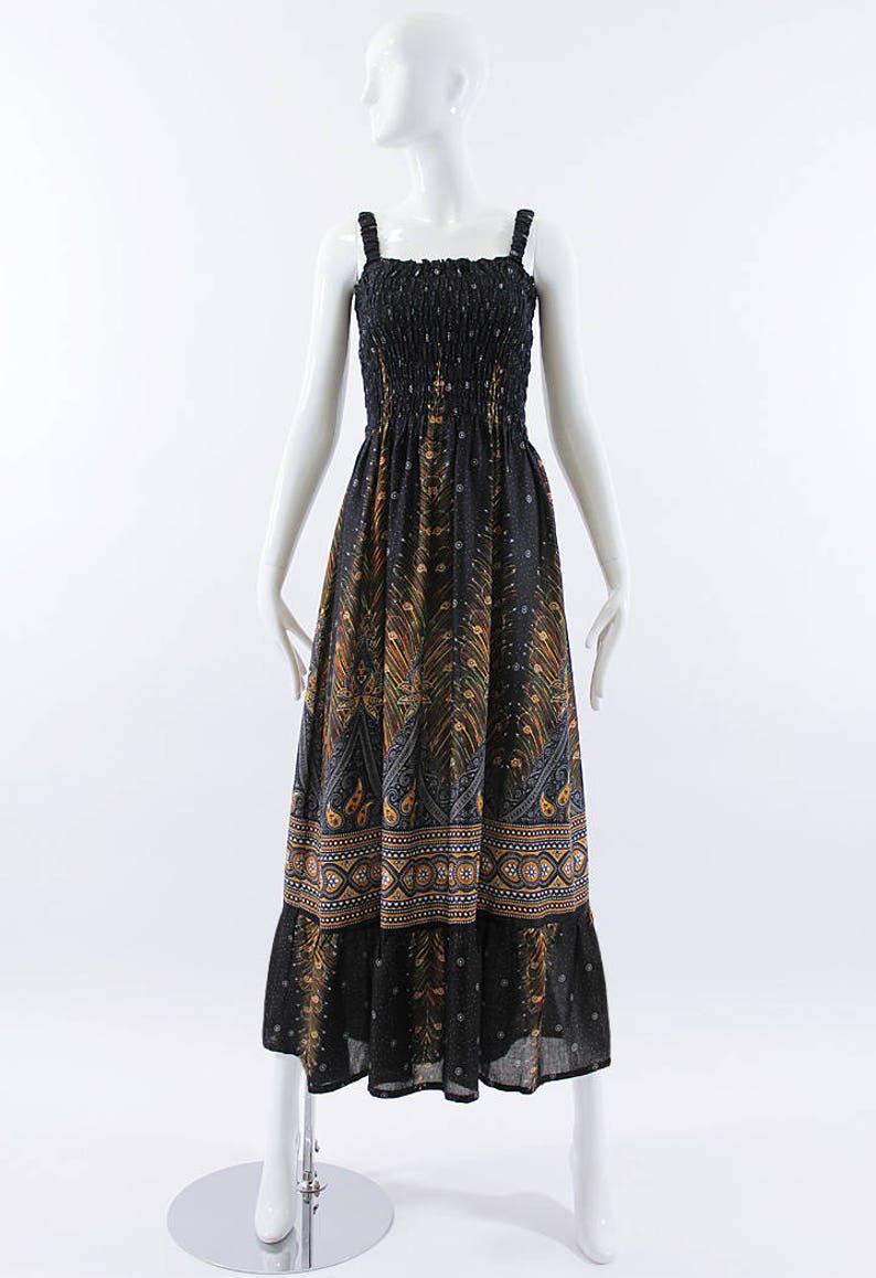 Black Maxi Dress, Plus Size Feather Dress, Handmade Rayon Dress, Vacation  Resort Lounge Dress, Gift Ideas One Size Fits Most, Small - 2XL