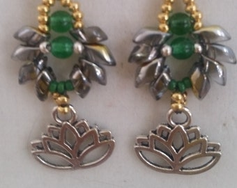Lotus Yoga, Meditation Earrings
