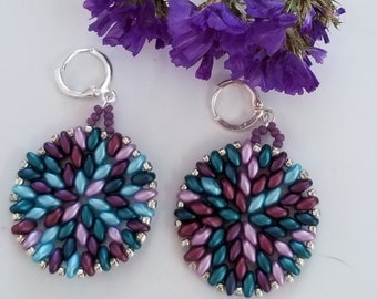 Yoga Jewelry Blue Splash Earrings