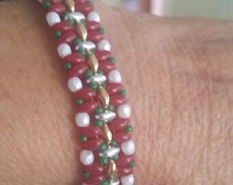 Christmas Bracelet Superduo