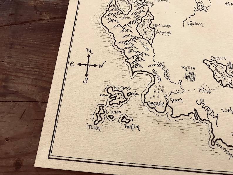 Eragon Karte.Karte Von Alagaesia Von Eragon Alter Handarbeit Handarbeit Gezeichnet Authentische Gabe