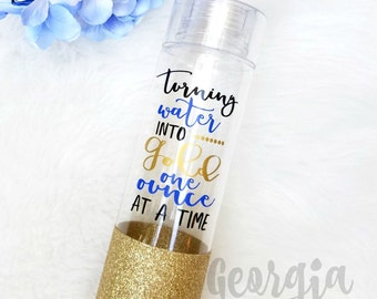 Breastfeeding Glitter Dipped Water Bottle // Glitter Cup // Turning Water into Gold One Ounce at a Time
