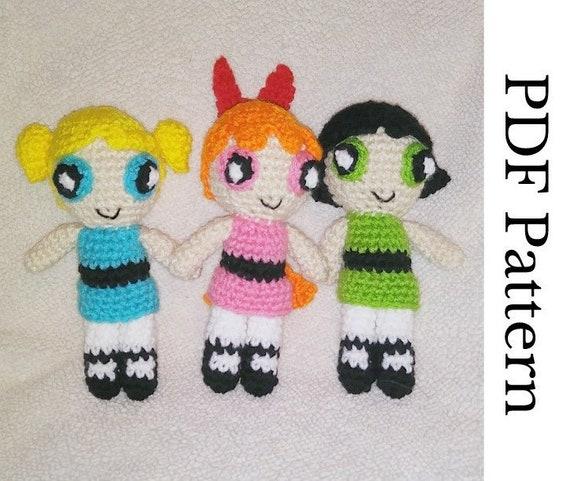 Bubbles from Powerpuff Girls pattern by The Nerdy Knitter ... | 481x570