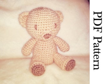 Crochet Bear Amigurumi Plush English PDF Pattern