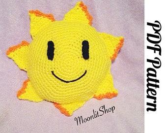 Crochet Happy Sun Amigurumi Plush English PDF Pattern