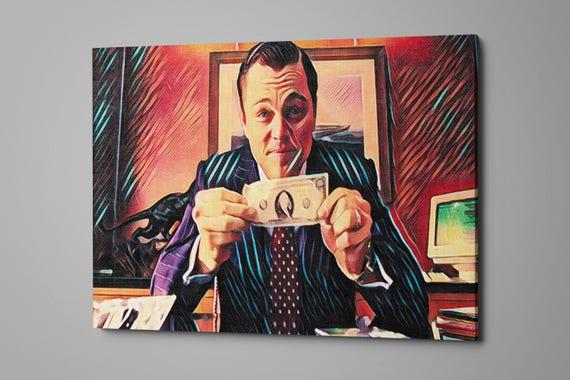 Wolf of Wall Street Art money fame fortune stocks | Etsy