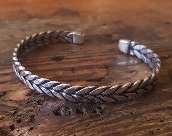 Viking bangle bracelet twisted Celtic medieval silver