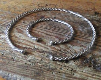 Viking bracelet and torc set