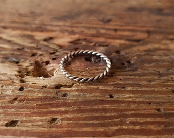 Twisted ring vikings celts medieval sterling silver brass bronze