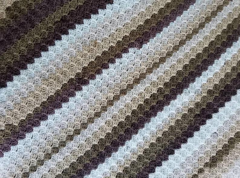 Hand crochet corner to corner throw, blanket, afghan Hot Chocolate