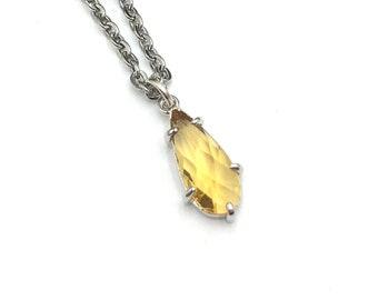 SUNFLOWER: yellow glass pendant necklace