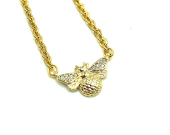 HONEY SWEET: tiny bee necklace