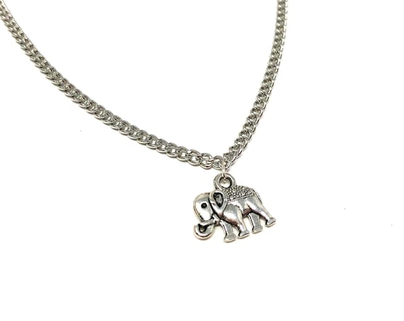 ELLE: delicate silver elephant necklace