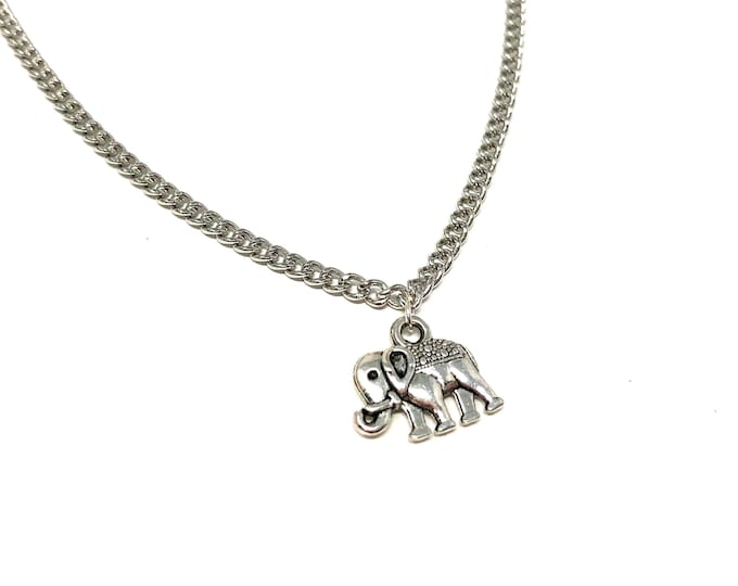 ELLE: delicate silver elephant necklace