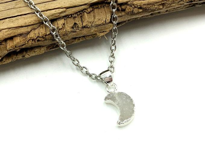 RHEA: delicate moon necklace