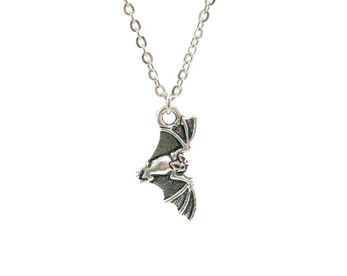 EDGAR: detailed bat necklace