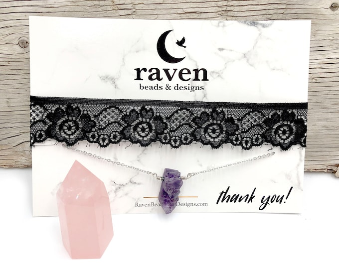 WITCH BUNDLE: jewelry set with rose quartz point