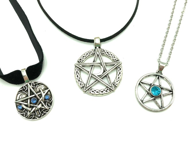 NORSE COLLECTION: pentacle chokers in three designs