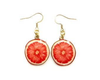 GRAPEFRUIT: adorable grapefruit earrings