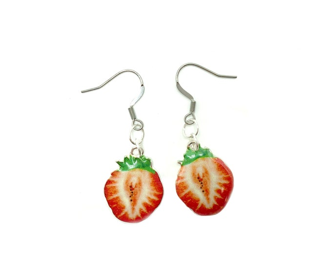 SHORTCAKE: strawberry drop earrings