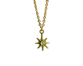 BURST: delicate north star necklace