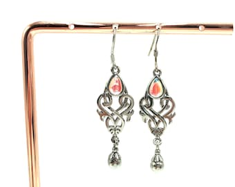 ESME: 925 sterling silver drop earrings