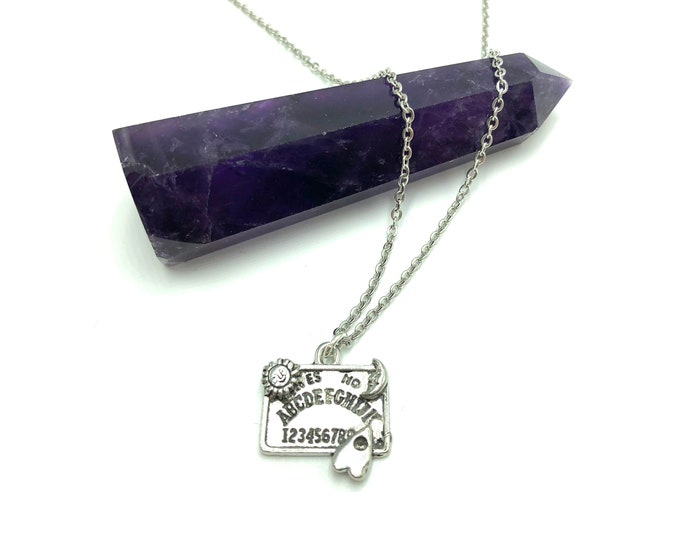 SPIRIT BOARD: stainless steel necklace