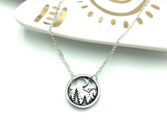 SUMMIT: mountain landscape necklace