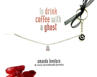 to drink coffee with a ghost: amanda lovelace x raven beads