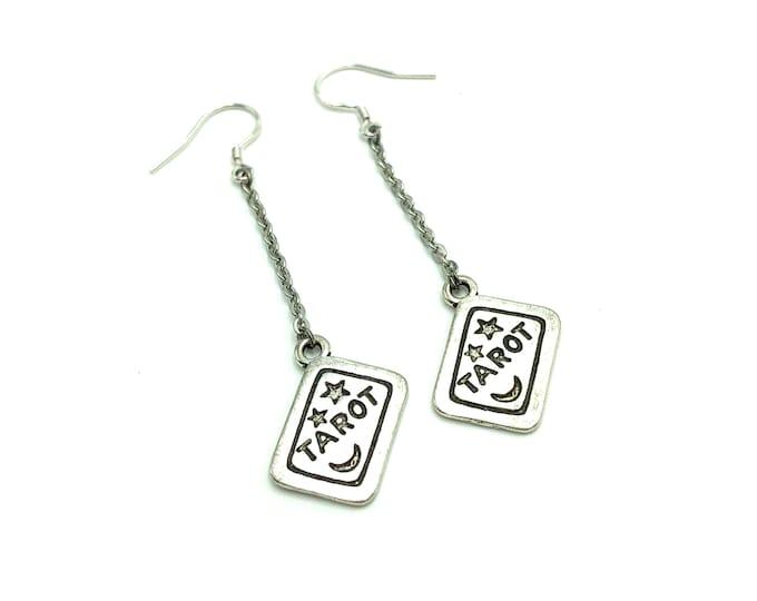 TAROT: tarot card dangle earrings