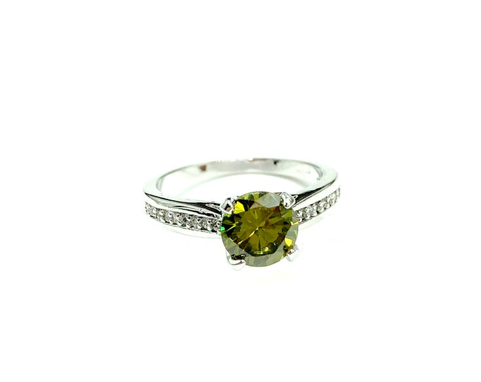 OLIVE: 925 silver plated ring