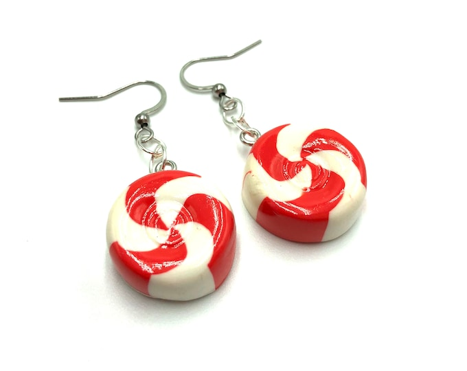 PEPPERMINT: resin mint earrings