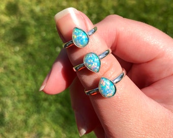 Gilson Opal Rings: 925 sterling silver