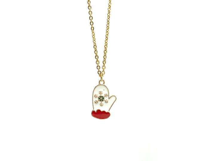 MITTEN: delicate mitten necklace