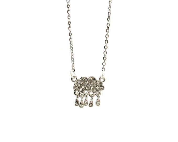CLOUDY DAY: adorable cloud pave necklace