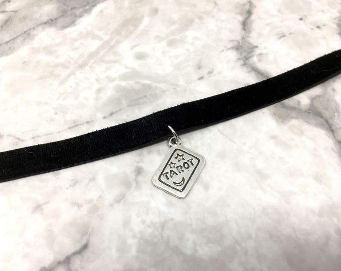 TAROT: black velvet choker necklace