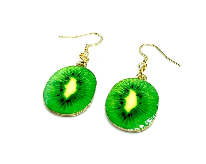 KIWI: adorable kiwi earrings