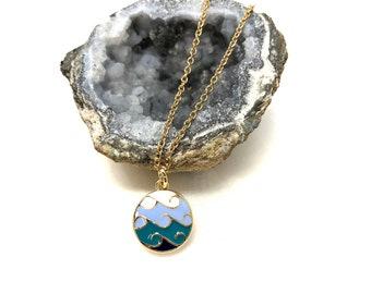 RIPTIDE: wave necklace