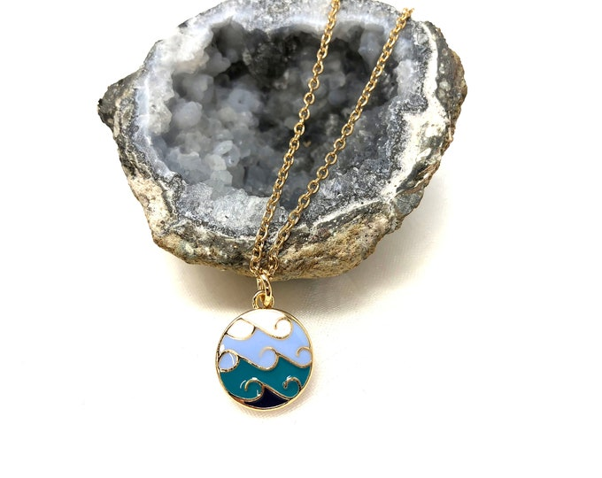 RIPTIDE: wave necklace