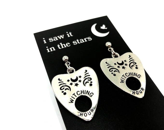 WITCHING HOUR: dangly planchette drop earrings