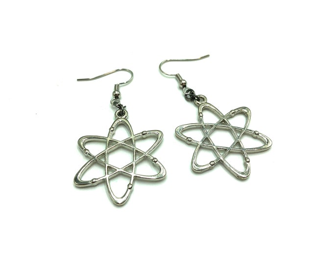 ATOM: molecular drop earrings