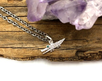 ALLIGATOR: dainty sterling silver alligator necklace