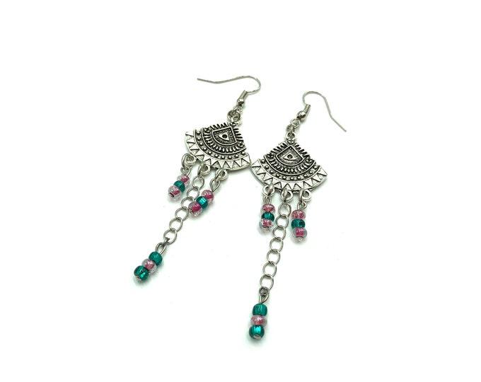 ILLUMINATING: beaded drop earrings