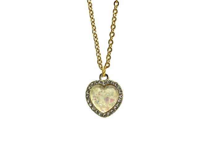 1996: gold tone heart necklace