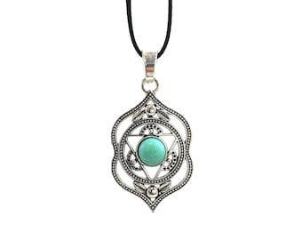 AGNYA AJNA: faux suede chakra necklace