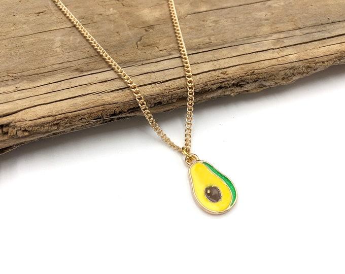 AVOCADO: gold tone necklace