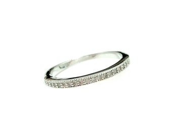 JULIA: 925 silver plated band ring